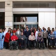 Usuarios y trabajadores en el Centro de Rehabilitación Eugenia Epalza