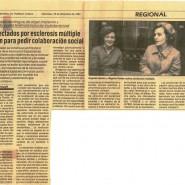 Primera aparición en prensa de ADEMBI en El Correo. Eugenia Epalza y Begoña Rueda en 1984