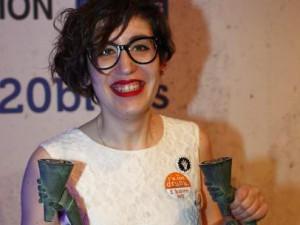 Paula Bornachea en la entrega del Premio al mejor Blog 2014. Foto: Jorge Paris.