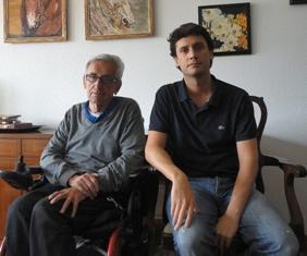 Juan, con su padre Jose Miguel