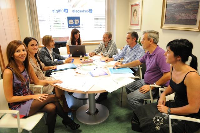 Reunión Protocolo Bilbao en la sede de la Fundación Esclerosis Múltiple