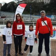 Ibana, afectada de EM, participó en la marcha con su familia