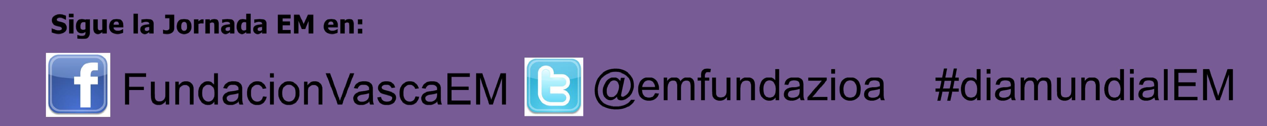 redes sociales de la Fundación Vasca EM
