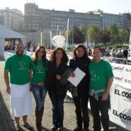 Marta Mateos y Lucía Bergareche de EL CORREO, junto a Mikel Antizar, Marta Fernández y Pedro Carrascal de la Fundación Esclerosis Múltiple