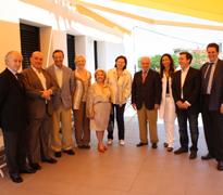 La Comisión de Sanidad durante la visita a la Residencia Urizartorre